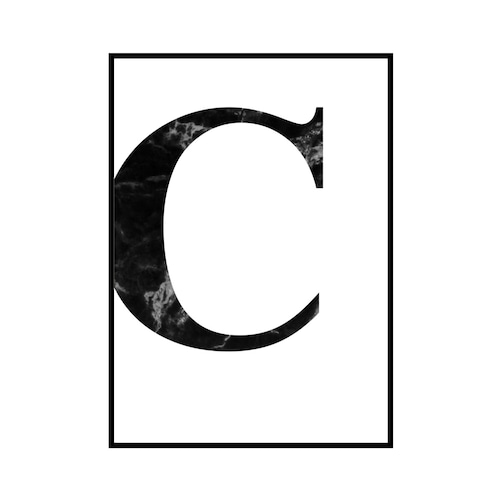 """C"" 黒大理石 - Black marble - ALPHAシリーズ [SD-000504] A2サイズ ポスター単品"