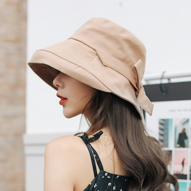 【小物】ファッションリボンサークル帽子43203890