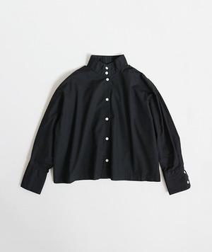 【SETTO】OKKAKE SHIRT (BLK) レディースシャツ ハイネックシャツ 国産 日本製