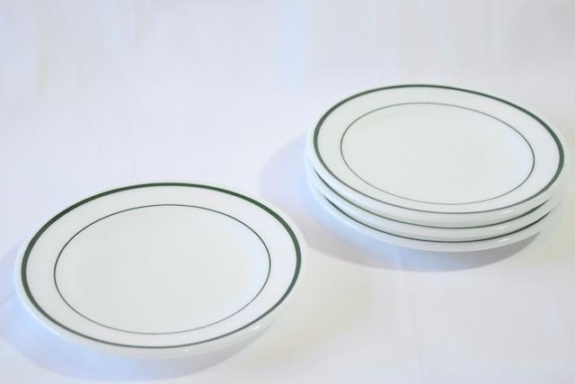 USED 2set CORNING Emerald band plate -green