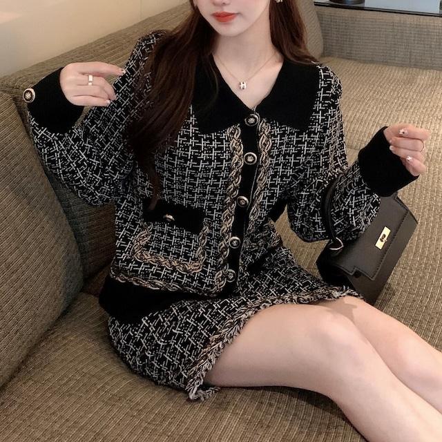 ツイードジャケット+ミニスカート S4741