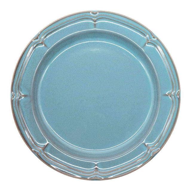 Koyo ラフィネ リムプレート 皿 約26cm アンティークブルー 15987103