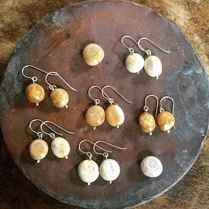 Owly.stock Sale fossil coral piece &earring(送料サービス商品)