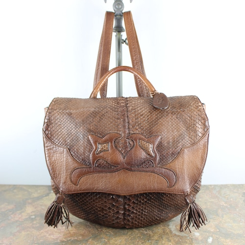 .IBIZA PYSON LEATHER RUCK SUCK/イビザパイソンレザーリュックサック 2000000053479