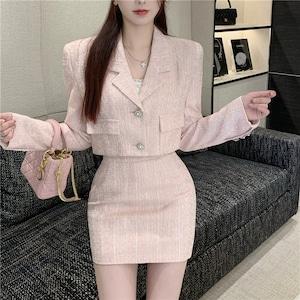 ピンクスーツセットアップ V00965