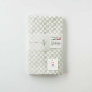 わた音カラー しゅす織り フェイスタオル/灰色 1-61157-31-GY