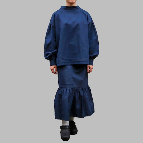 ASEEDONCLOUD/アシードンクラウド hyoryushi smock blouse  #212602 polar night cotton