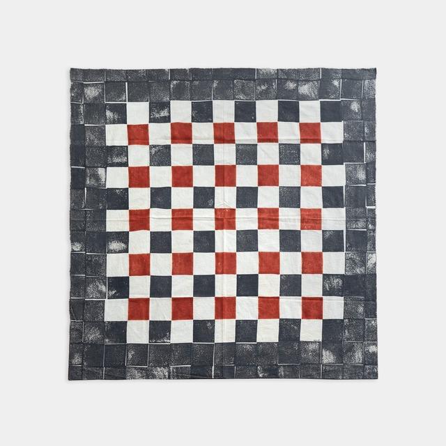 Shiori Mukai Textile 034 向井詩織 ブロックプリント 約97×97cm