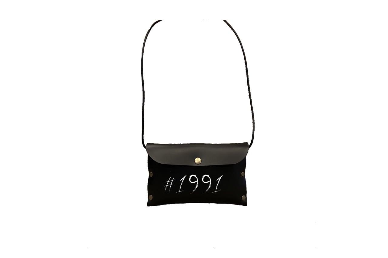 1991 leather mini side bag (BLK)