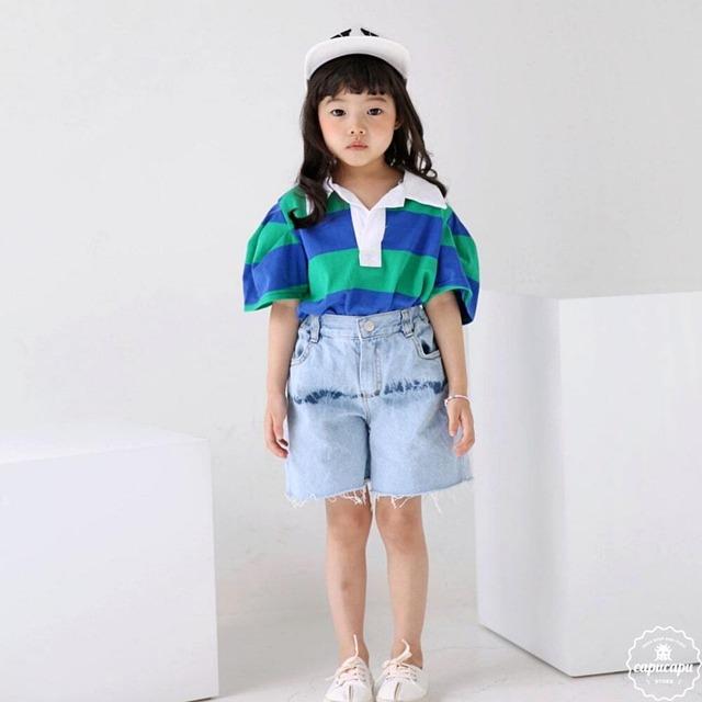 «sold out» bubble kiss denim shorts デニムショートパンツ