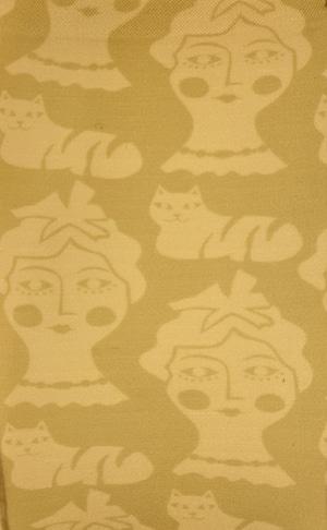 Little Thing Magazine リトルシングマガジン /プリントストッキング(Girl and cat)