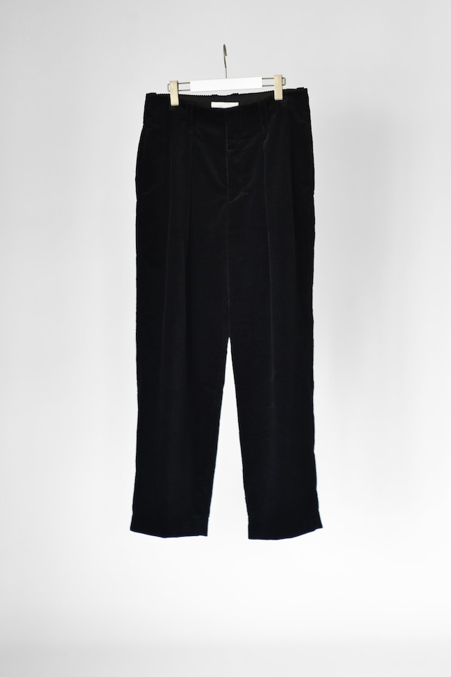 【2021 緊急事態宣言SALE】ETHOSENS corduroy wide pants Black
