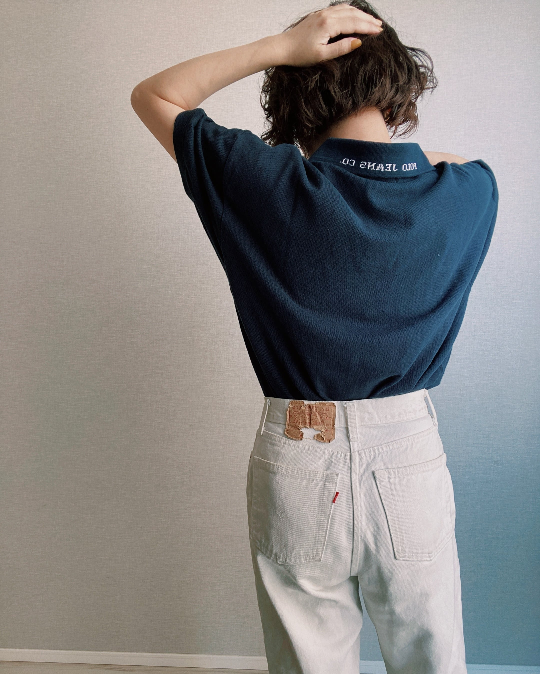 (SH221)Polo Jeans embroidery logo polo shirt