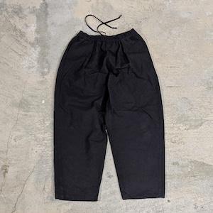 <ツムギラボ>Chita-momen baloon pants black dye