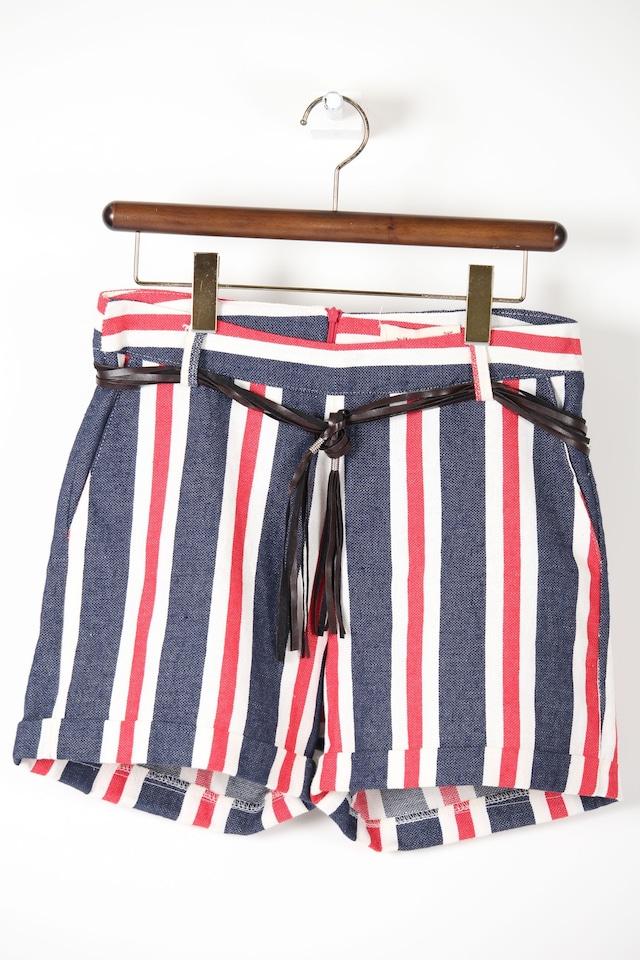 赤×紺ショートパンツ