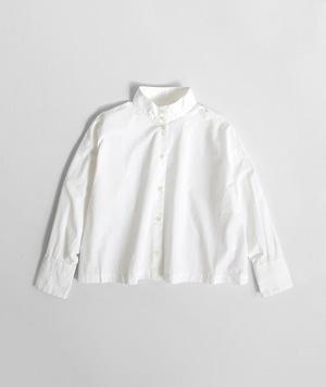 【SETTO】OKKAKE SHIRT (WHT) レディースシャツ ハイネックシャツ 日本製 国産