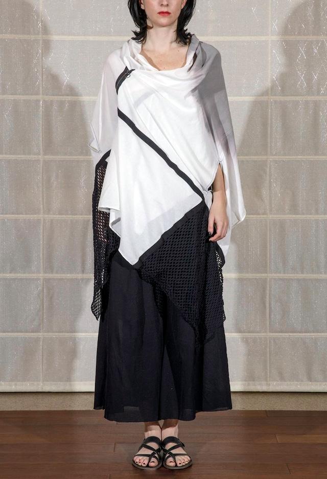 [着るアートストール] HAORI ANGEL ハオリエンジェル【COTTONコットン】 moon SILVERGRAY 202010[送料/税込]
