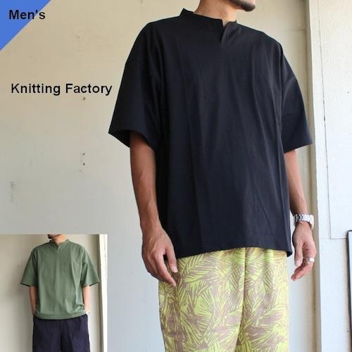 Knitting Factory スリットネックワイドTee  2カラー