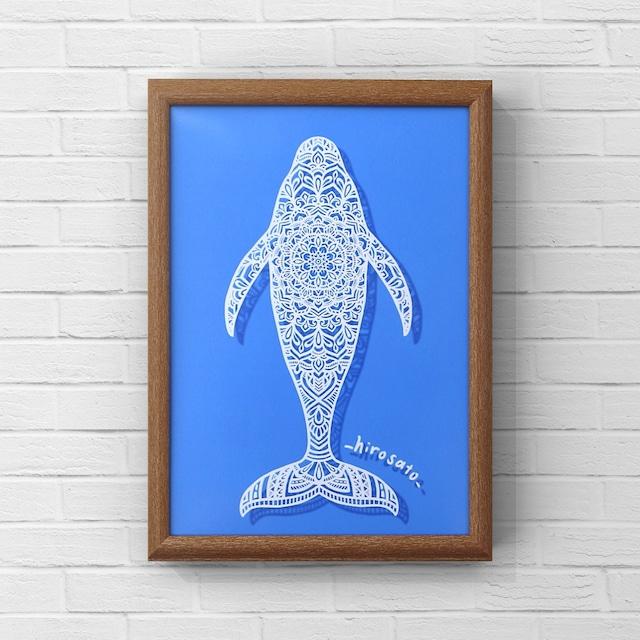 クジラマンダラ:A4サイズ