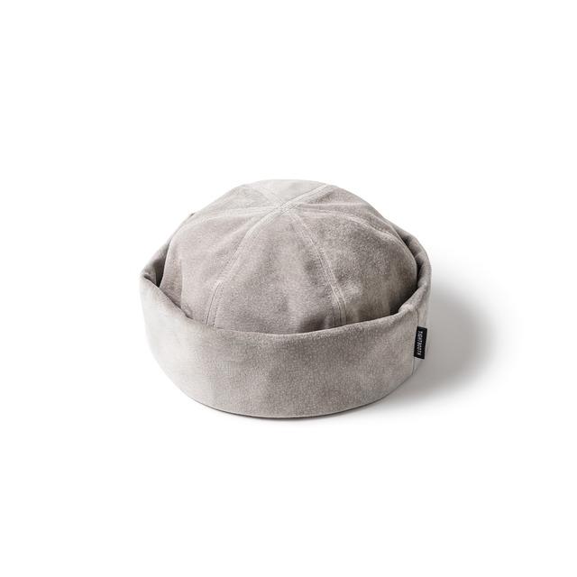 TIGHTBOOTH  SUEDE ROLL CAP GREY