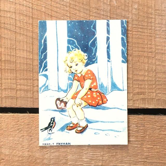 ミニ・クリスマスカード「Margit Ekstam(マルギット・エークスタム)」《200324-08》
