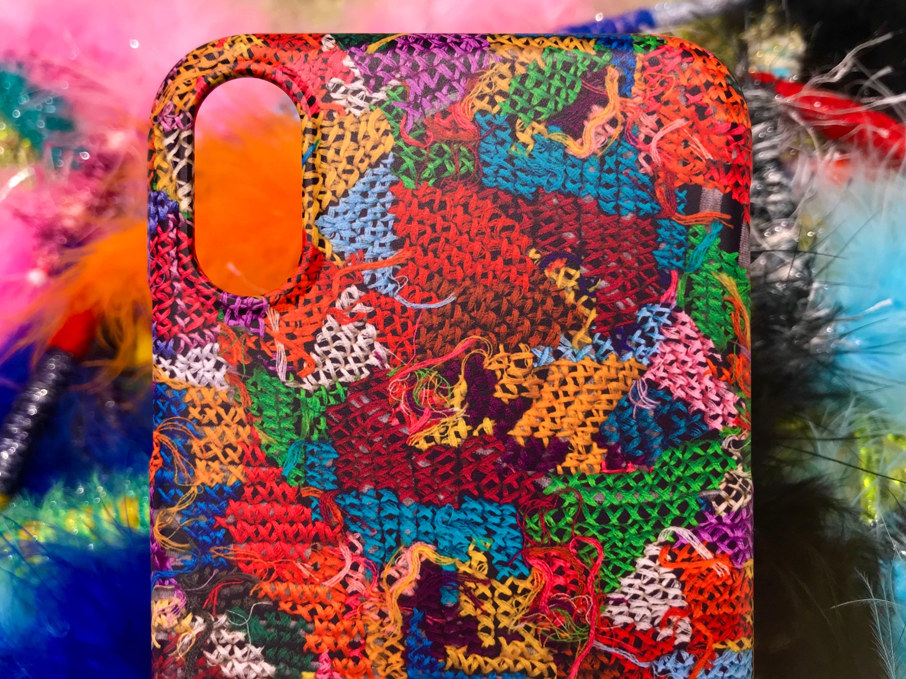 Cross stitch Smartphone case ◎ Matte coated