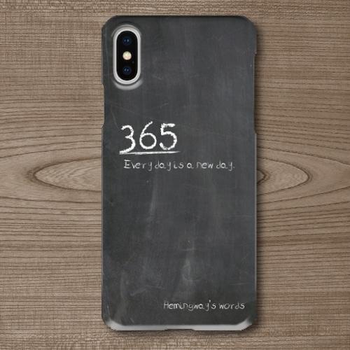 名言・格言/チョーク文字/ヘミングウェイ/Everyday/黒板調/iPhoneスマホケース(ハードケース)