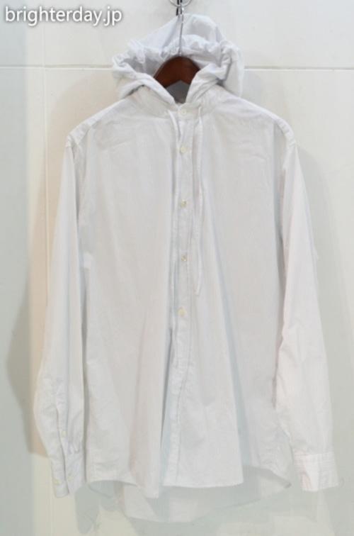 NEON SIGN ストライプフードシャツ