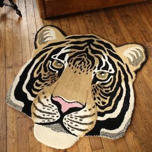 Rajah Tiger Head Rug Large