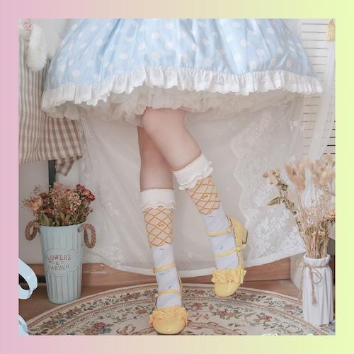 【お取り寄せ】アイスクリーム ハイソックス 3色