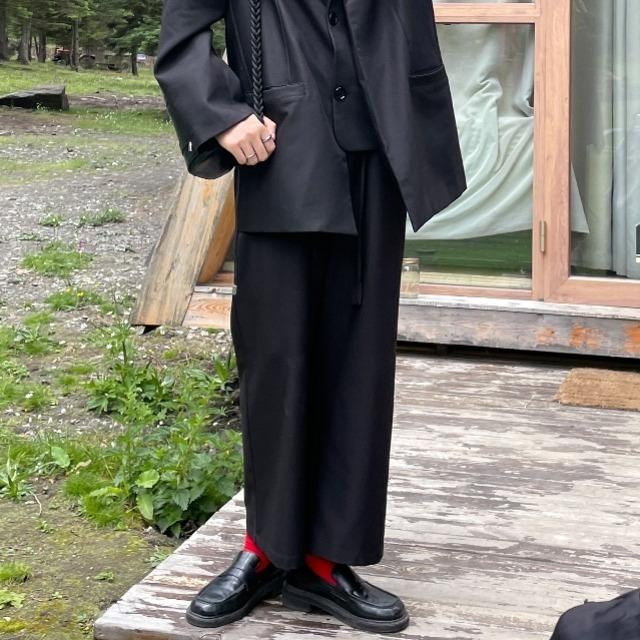 Casual straight suit pants(カジュアルストレートスーツパンツ)b-411