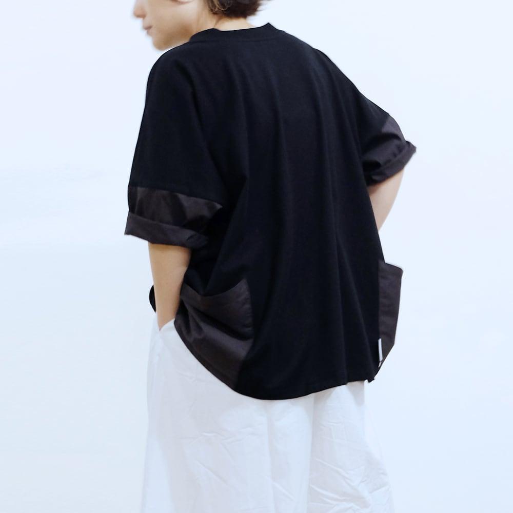 96% Wide-Tshirt_Organic cotton x RE:Nylon [ Black ]