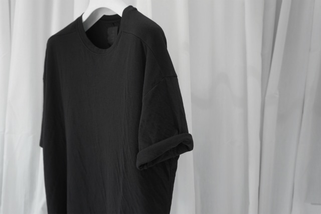 thom krom / DOUBLE FACE CUTSEW / BLK