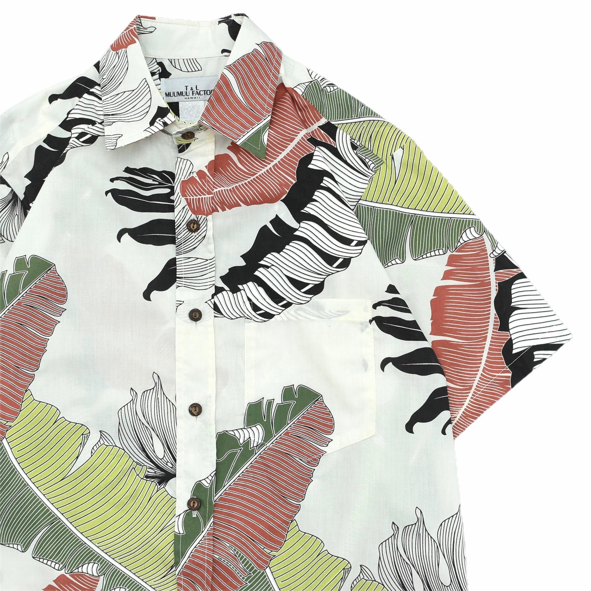 90s T&L MUUMUU FACTORY aloha shirt Made in Hawaii