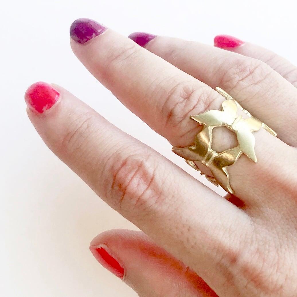 Raw brass Rings -  butterflyリング RG-031