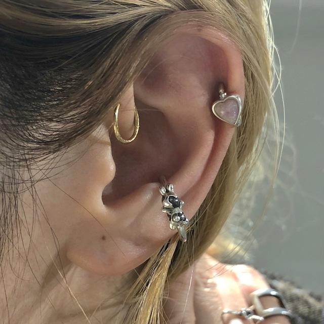 ダルメシアンうさぎ CHARMのsnap RING body jewelry チャーム単体 ® SILVER925 #LJ20047C