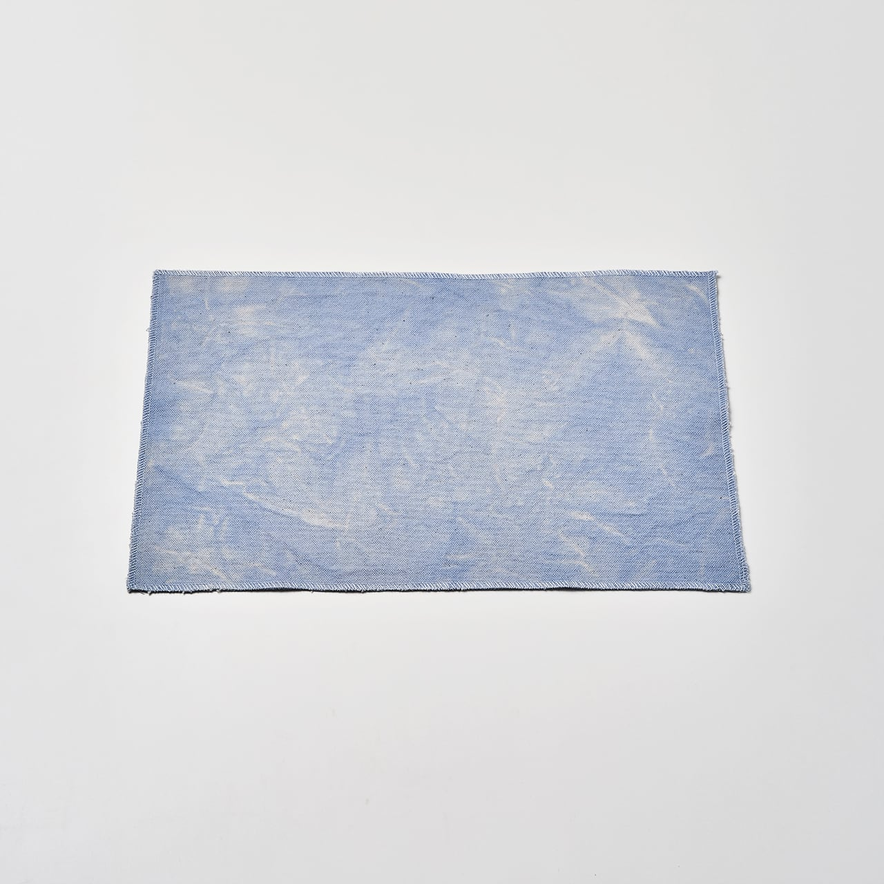 帆布で作ったランチョンマット(ライトブルー) 45cm×30cm