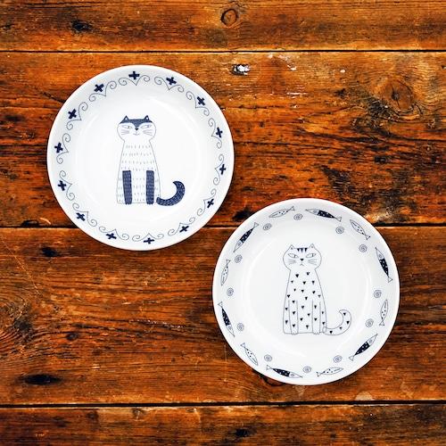 猫小皿(ウチ猫お座り猫小皿2枚組)B