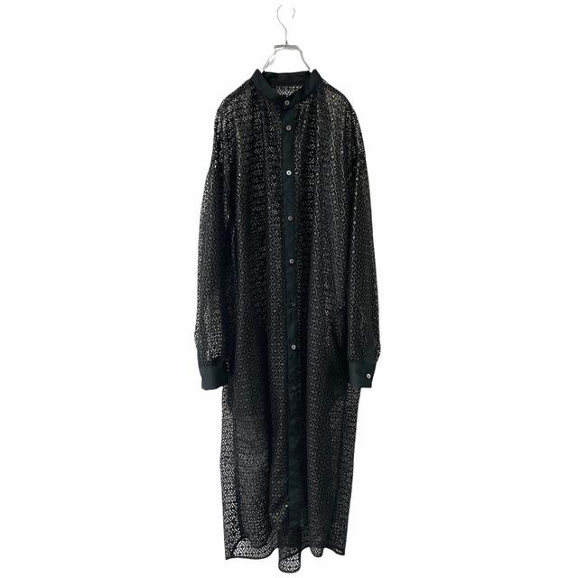 【オーダー受付】Lace-Longshirts (geometric black)