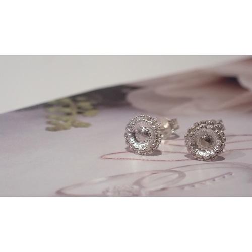 Gerbera Silver Studs Earrings