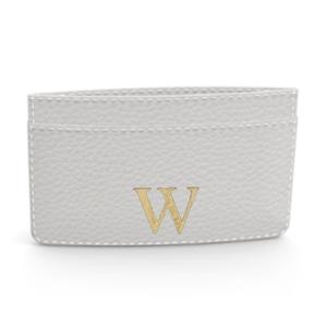 Premium Shrink Leather Card Case (Milk White)