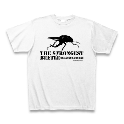 コーカサスオオカブト Tシャツ -maylime- オリジナルデザイン ホワイト