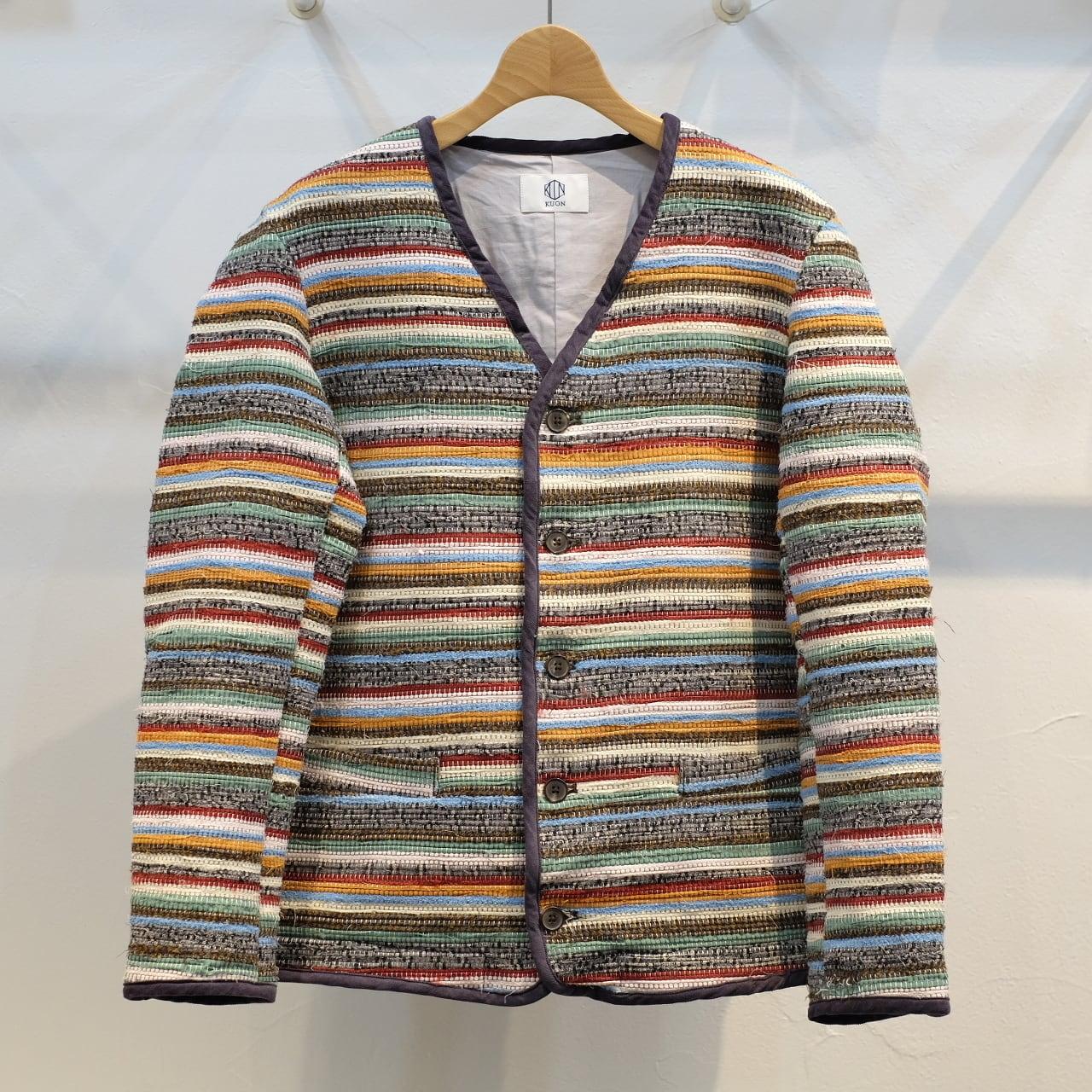 KUON(クオン) KUONテキスタイル裂き織り カーディガン Mサイズ