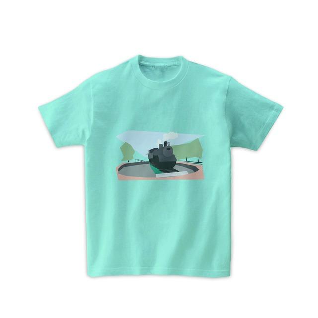 電車Tシャツ-SLと転車台