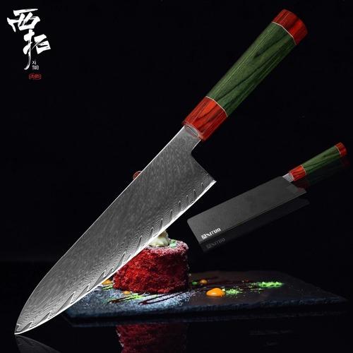 ダマスカス包丁 【XITUO 公式】 牛刀 刃渡り20cm VG10 ks20110403