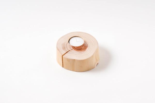 丸太のキャンドルホルダー 4cm