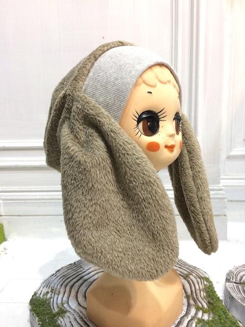 NIGATSU うさみみ帽  シャギーモカ