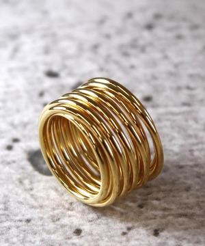 YR180327KHR6【YArKA/ヤーカ】silver925  coil design ring[kees]/シルバー925コイルデザインリング