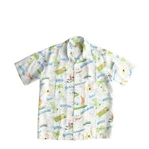 Mountain Men's オープンアロハシャツ / VACATION / White