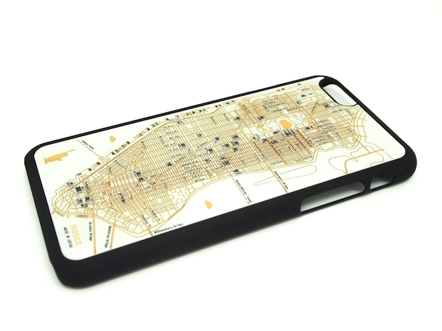 FLASH NY回路地図 iPhone6/6s ケース  白【東京回路線図A5クリアファイルをプレゼント】